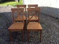 4*Pine dinning chairs