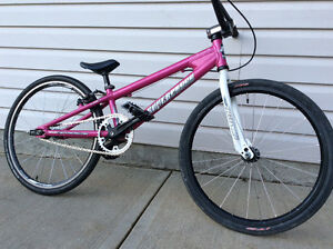 Pink Supercross Junior BMX race bike