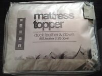PURE LUXURY FEATHER BEDDING DUVETS PILLOWS TOPPERS ETC 100% COTTON BRAND NEW