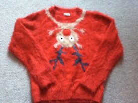 Red next Christmas jumper age11-12 years