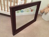 Debenhams dark mahogany mirror