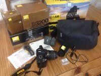 Nikon D3200 Black SLR Digital Camera with Nikkor lens