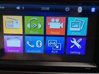 HD Double Din Touchscreen Bluetooth entertainment Screen with HD rear view camera