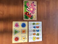 Wooden Puzzles x 3 Great Condition.