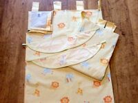 Nursery Curtains in Lemon