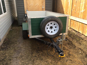 Custom Built 4x9 utility trailer almost new with serial number
