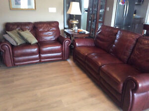 Love seat and couch Leather Electric recliner