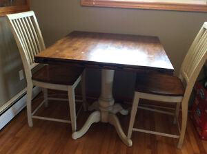 Pub Style table & 2 chairs