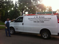 Gas Line Installation.  JW Brian Mechanical