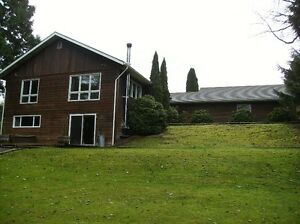 Private 1.15 acres with Classic family home 5 min. to town