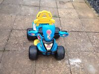 Childs battery powered quad bike