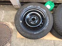 4 x VW Golf (MK5) Steel Rims & Tyres (15 Inch)