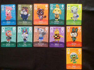 Amiibo Animal Crossing Cards for Trade!