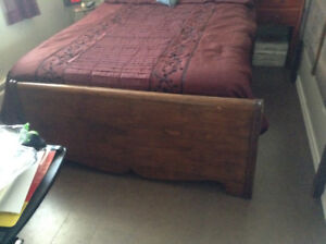 Double bed head board &and footboard.