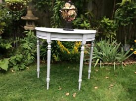Ronseal grey chalk painted hall table