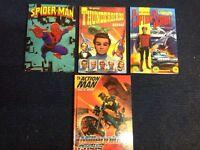 Annuals, Spider-Man 84, thunderbirds 92, captain Scarlet 93, action an 2000.
