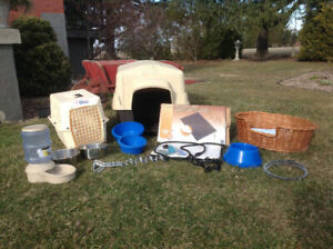 Pet House, Carrier, Bowls, Heat Mat and Bed Collection