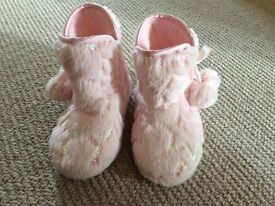 Pink boot slippers in size Infant 7