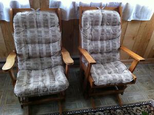 Solid hardwood rocking chairs