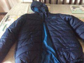 North face jacket blue reversible boys jacket new