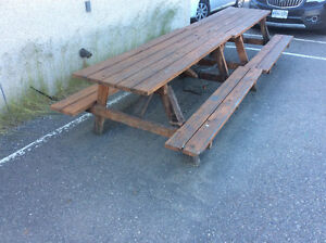 2 treated picnic tables