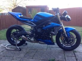 2013 Triumph Street Triple 675 Road Track R Race Bike