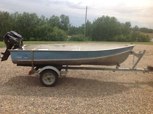 12 ft boat 9.8 APS 4 stroke and trailer