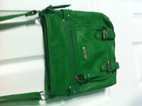 2 Green colored purses for fall