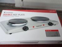 Two ring electric cooker plate