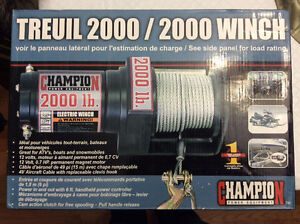 NEW Champion 2000 lb. electric winch