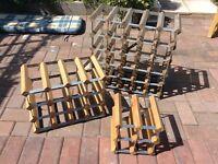 3 x Stacking Wine Racks