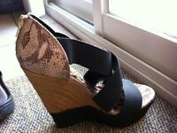 Jessica Simpson high wedge shoes. Size 8