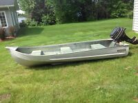 Aluminum boat and motor 12 ft.
