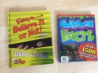 Ripley's believe it or not book & Gruesome facts book
