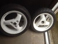 Peugeot Speedfight WRC wheels with tyres