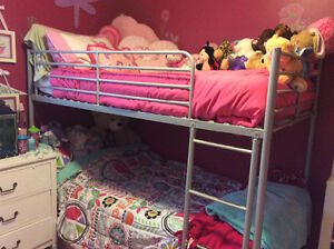 IKEA metal frame bunk bed