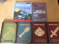 MINECRAFT BOOKS FOUR BOOK SET AND 2 OTHER MINECRAFT BOOKS