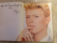 DAVID BOWIE..SIGNED PROGRAMME..