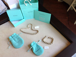 Tiffany & Co. 925 stamped sterling silver necklace and bracelet