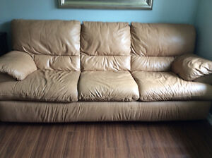 Palliser Genuine Leather Couch, chair and Ottoman