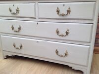 Authentic Vintage SOLID Chest of Drawers -painted - shabby chic- Annie Sloan