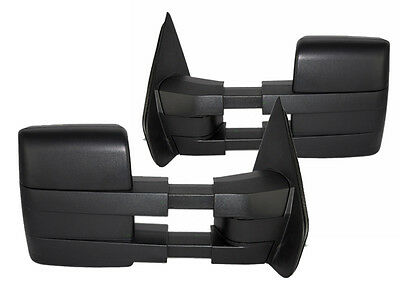 NEW Manual Black Towing Mirrors PAIR / FOR 04-14  FORD F150 TRUCK 2032030