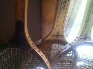 WOODEN TENNIS RACKETS DUNLOP PRINCE COLLECTIBLES $90.00 OBO