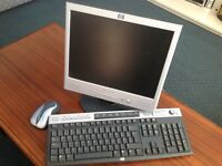 Monitor , wireless keyboard and mouse