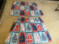 Designer guild fabric fully lined children's curtains