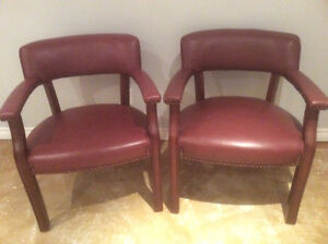 2Magagany leather chairs with studs Cambridge Kitchener Area image 1