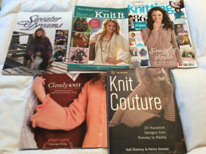Knitting, crochet, sewing, quilting and craft books