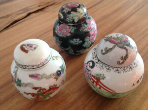 Chinese Hand-painted Porcelain Tea Jars