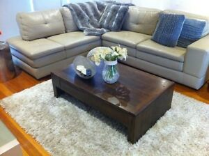 Stunning Plush Leather L Shape Couch Sofa RRP $5,600.00 Mentone Kingston Area Preview