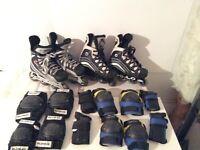 Patins à roues alignées de hockey / ensembles de protection